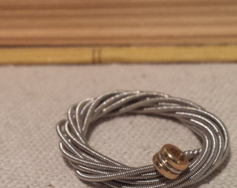 guitar string ring - guitar ring - repurposed guitar string - wrapped guitar string