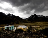 Bus Stop (Colour Limited Edition Signed Photographic Print) Peruvian Highlands, Altiplano Landscape