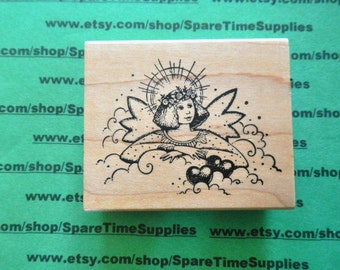 DEL-H789 Cloud Angel - Mouned Rubber Stamp