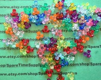 Darice - 06102-1-T27 Tri Beads-  transparent multi - 11mm - 220 pcs