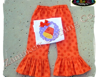 Custom Boutique Clothing Girl CANDY CORN Halloween Toddler Tshirt Tee Costume Pant Outfit Set 3 6 9 12 18 24 month size 2T 3T 4T 5T 6 7 8