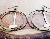 the axes - earrings  timbers