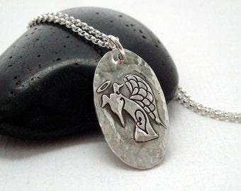 Greyhound Angel Necklace - Greyhound Jewelry - Pet Memorial - Greyhound Necklace - Simply Love Angel PETITE