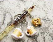 Beer and Pretzels - Non-Snag Stitch Markers