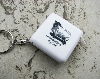 Sheep Tape Measure with Key Ring/Chain - FREE SHIPPING when purchased with any other item
