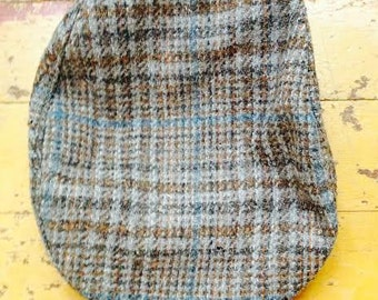 Vintage wool plaid Pendleton cabby hat size Small