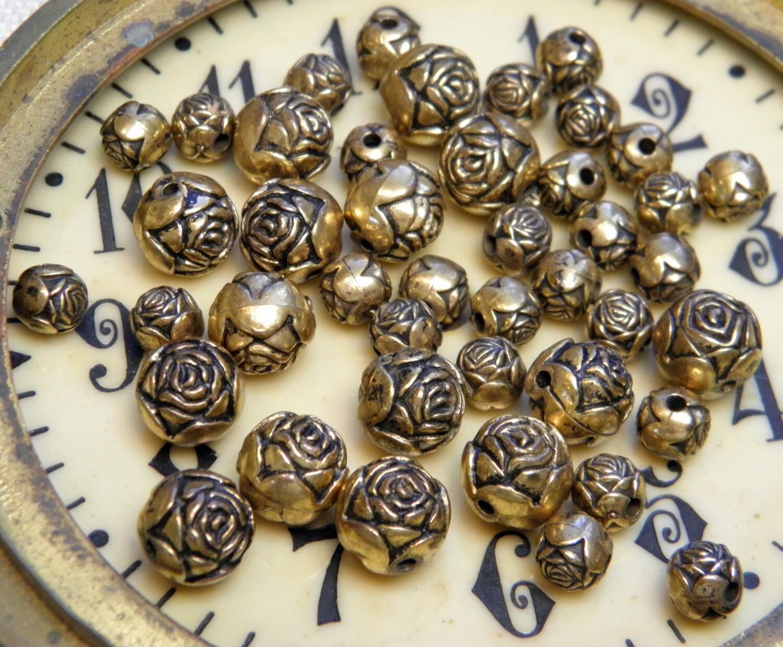 vintage metal bead