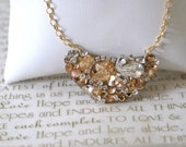 Gold Wedding Necklace, Bridal Pendant Necklace, Geometric Modern Necklace, One of a Kind, OOAK