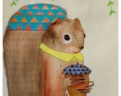 the Squirrel - PRINT - various sizes