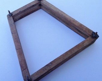 Vintage Wood Tennis Racket Press Frame or Guard for Display Re-purpose as Frame or Upcycle
