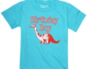 Kids BIRTHDAY BOY Dinosaur T-shirt
