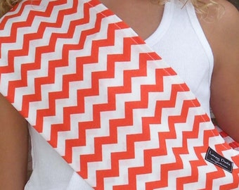 Just Like Mommy Baby Doll Sling-Perfect For American Girl Dolls-Orange Chevron-Free Shipping When Purchased With a Wrap
