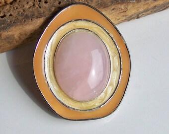 Avon Jewelry, Vintage Jewelry, Vintage Pendant, Vintage Brooch, Avon Brooch, Avon Pendant, Pink, Orange, Yellow, Etsy, Etsy Jewelry