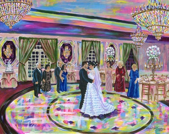 Live Event Painting at Weddings
