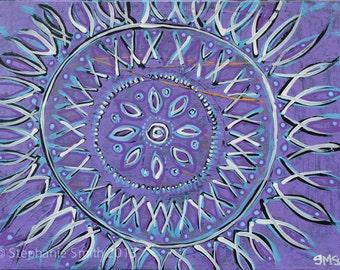 Original Art: Expressive Purple Meditation Mandala