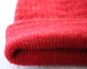 flame red beanie mohair and merino one only  size M-L