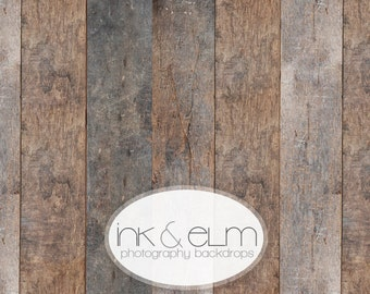 "Food Backdrop 2ft x 2ft, Wood Product Photography Backdrop, Vintage Distressed Wood Floor or background prop, ""Emmerson Wood Planks"""