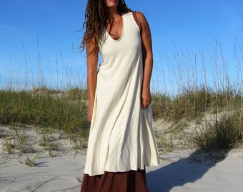 Organic Ritual Wanderer Below Knee Dress (light hemp/organic cotton Knit)