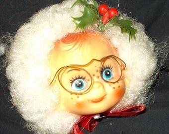 Vintage Mrs. Claus Magnet