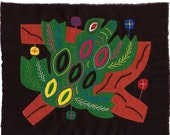 SALE! - Extraordinary Tree Frog Mola - Hand Sewn Kuna Indian Applique and Embroidery