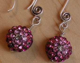 Pink Perfect Crystal Earrings for Fall, Weddings, Brides Maid gifts