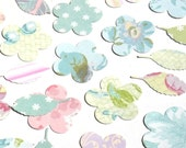 Shabby Pastels - K&Company Flower and Leaf Die Cuts