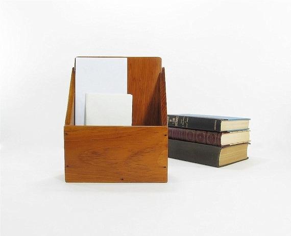 Vintage letter holder mail holder desk organizer for Vintage letter holder desk