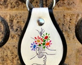 "Key Fob with Picasso's ""Hands With Bouquet"""