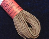 Fujix #1 Japanese Persimmon hand dyed cotton thread light ash gray brown