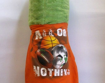 Cape or Apron: Sports All or Nothing  Handmade by Fashion Green T Bags