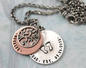 Mens Personalized Jewelry, Personalized mens Necklace, New Daddy Gift, Personalized Necklace, Engraved Necklace, Custom Hand Stamped