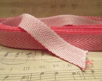 Pink ChevronTwill Tape- 5 Yards