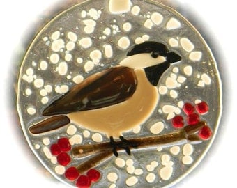 Winter Chickadee Suncatcher