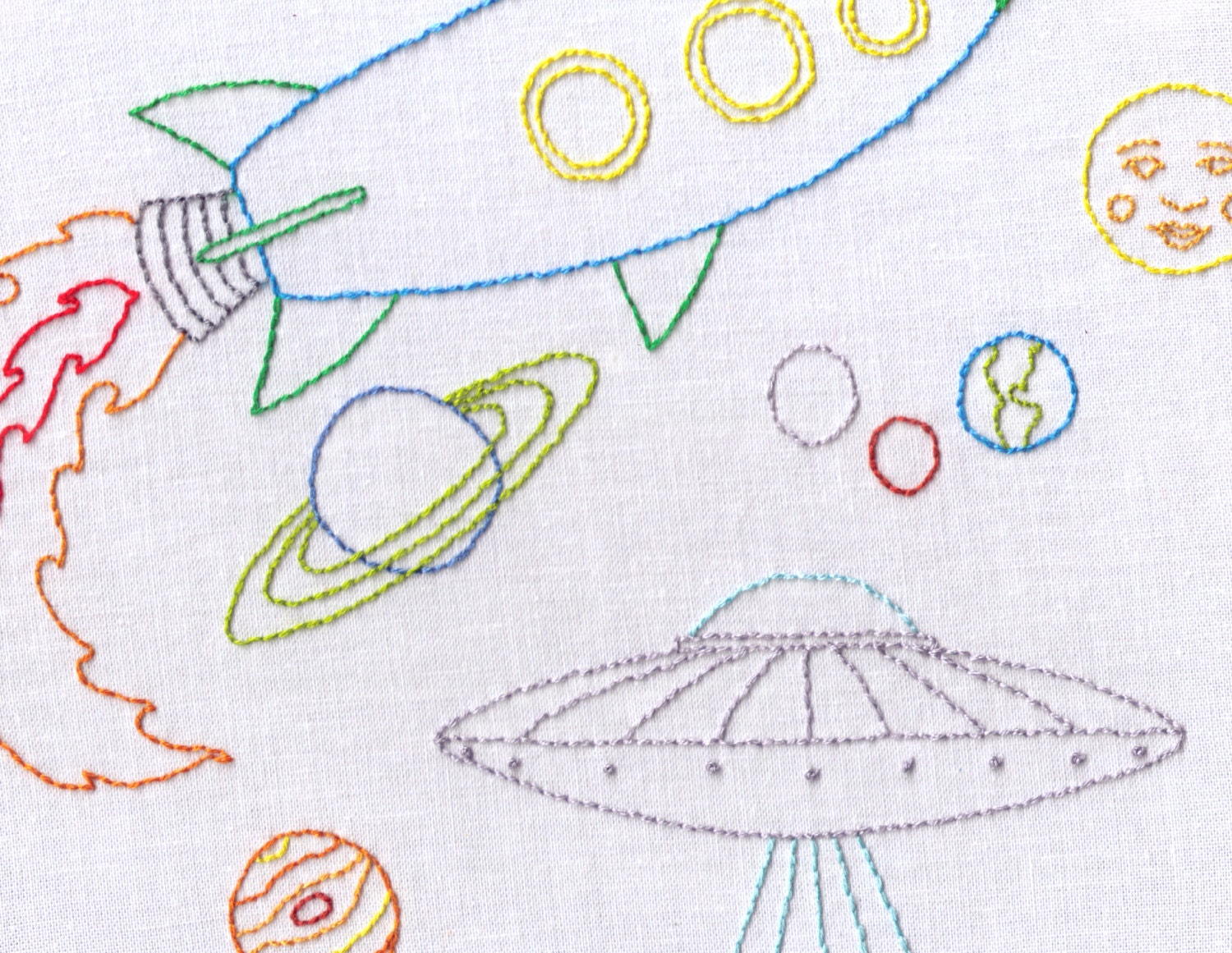 Space hand embroidery pattern pdf astronaut ufo by ravenfrog for Space embroidery patterns