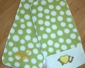 BURB CLOTHS - Set of 2 - Lime Green Dots - Personalized