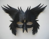 Leather Odin's Raven's mask