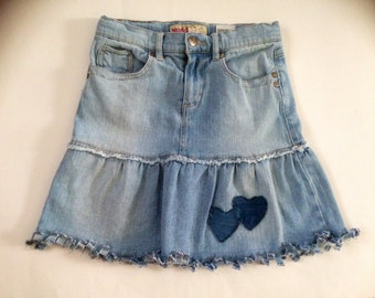 Altered Couture Refashioned Jean Skirt
