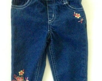 Baby Couture Altered Blue Jeans Hippie Gypsy Cowgirl
