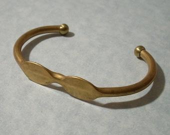 Adjustable Brass Cuff Bracelet Blank Glue Pad Bracelet