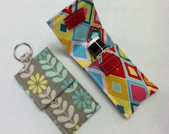 Lip Balm Keychain Cozy, Lip Stick Holder, Chap Stick Holder