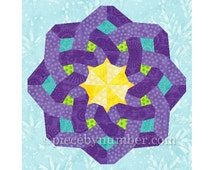 Crown of Venice quilt medallion, paper pieced quilt pattern, celtic knot pattern, instant download, quilt block pattern, celtic knot quilt
