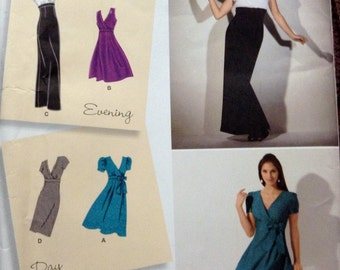 Sewing Pattern Simplicity 2549 Misses' Special Occasion Dresses Size 6-14 Bust 30- 36 inches   Complete Uncut
