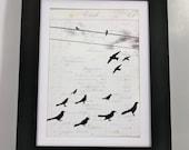 The Balance of Birds - 8x10 Mixed Media Print (Unframed)