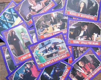 Vintage Addams Family Trading Cards - Set of 12