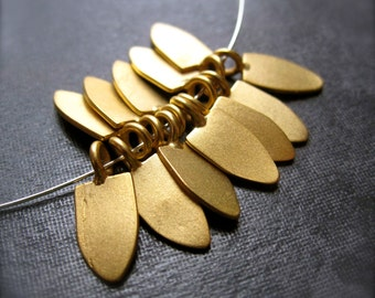 Vermeil Charms Golden Arrow - fat spike - 8 14K Gold Plated Charms