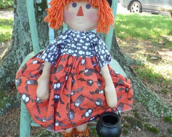 Primitive Raggedy Witch doll Halloween