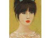 Miss Mews.  Portrait.  Art Print.
