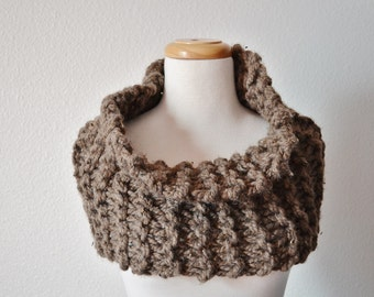 Chunky Knit Cowl. Outlander Inspired Super Chunky Knit Cowl/Capetlet in Barley. Women's Handmade Fall Fashion. Clearance Sale!
