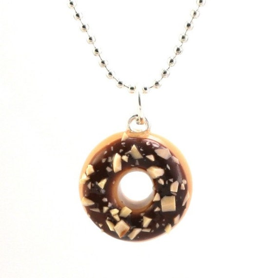 Food jewelry scented donut necklace chocolate donut for How to make scented jewelry