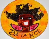 Luscious Art Saucer- BALANCE (hAPPyYellow)  yes joy